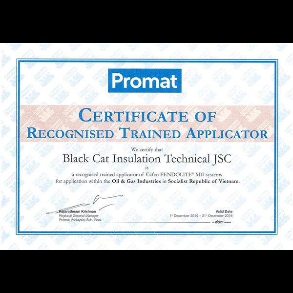 Promat Certificate