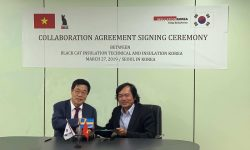 Agreement signing ceremony between Black Cat Insulation and Korea Insulation