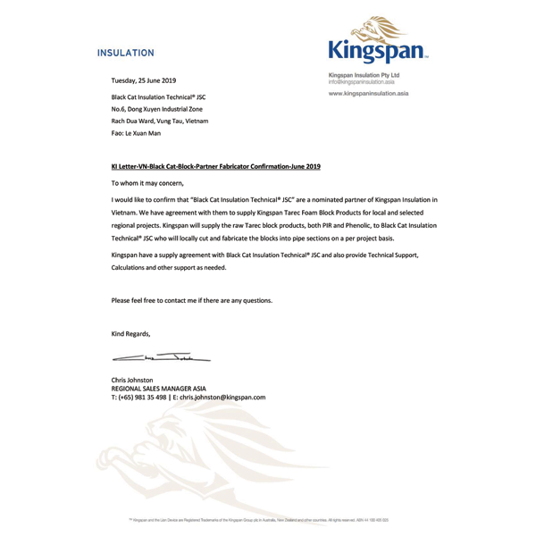 Black Cat - Distributor PIR Kingspan